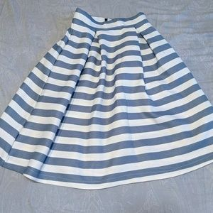 Blue and White striped skirt